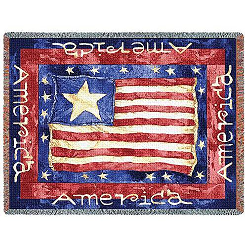 Old Glory Throw Blanket (48 in. x