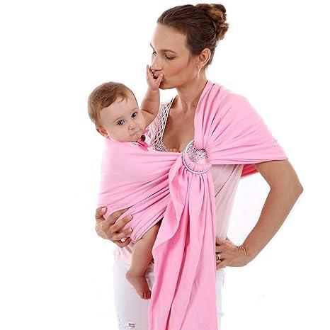 ba63518a17e ThreeH Bébé anneau Sling Wrap Coton organique Couverture de couverture d  allaitement BC14