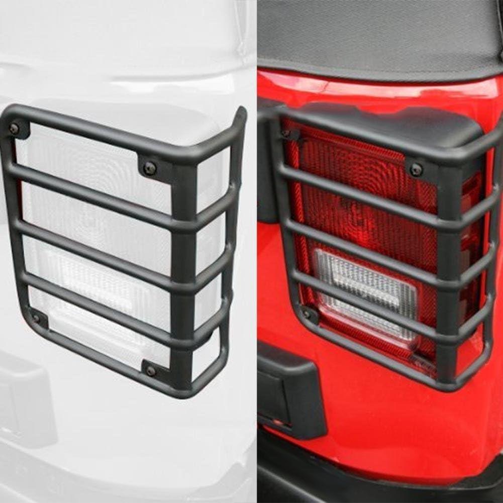 /17/Jeep Wrangler JK Jku NELNISSA 1/PAIR metal Rear Tail Light guardie coperture per 07/