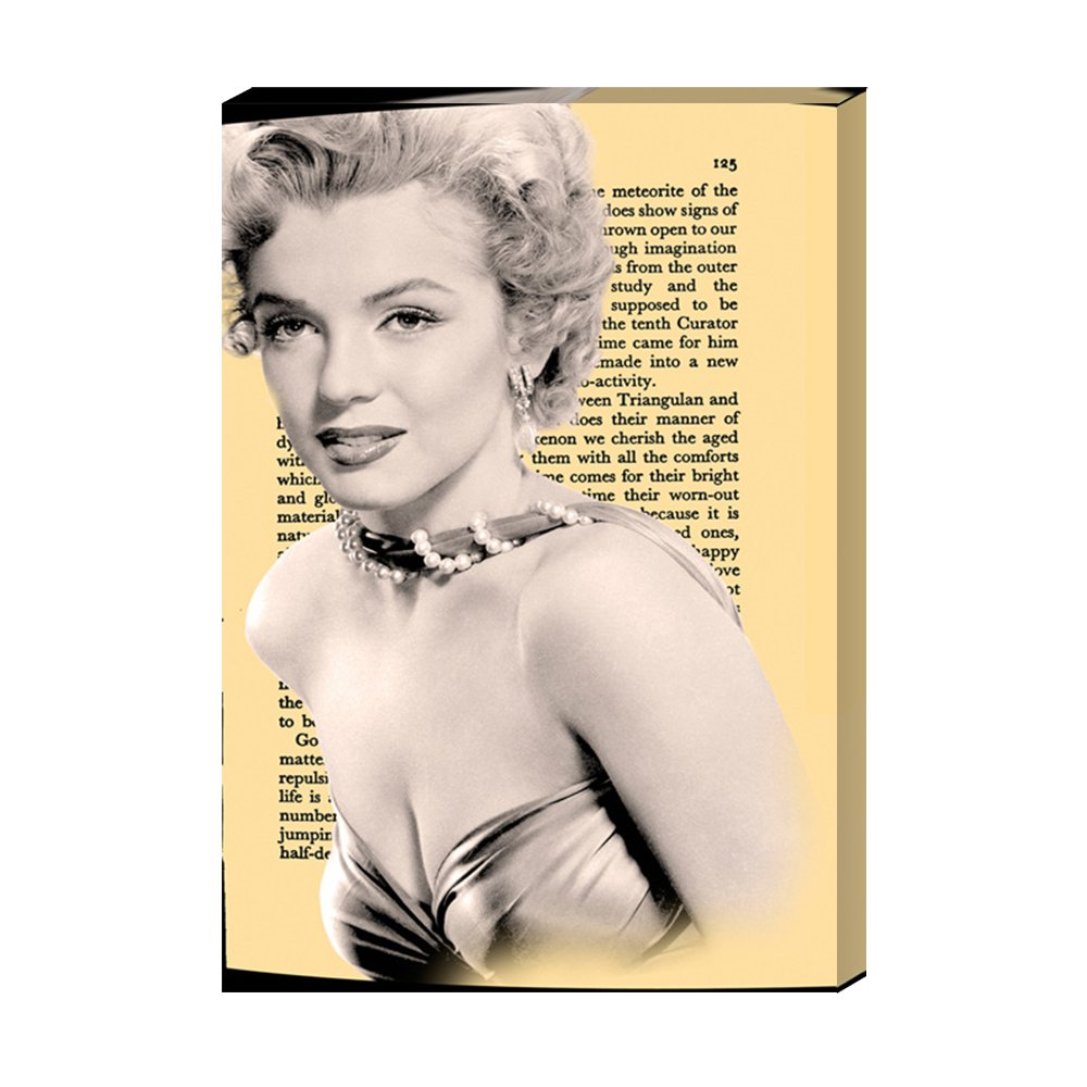 Amazon.com: Marilyn Monroe Pink Bubble Gum Canvas print Wall Art for ...