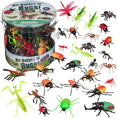Bug Action Figure - 30 Giant Insects Playset (Ants, Tarantula, Spiders) - Large Sized Toy (Giant Bug)