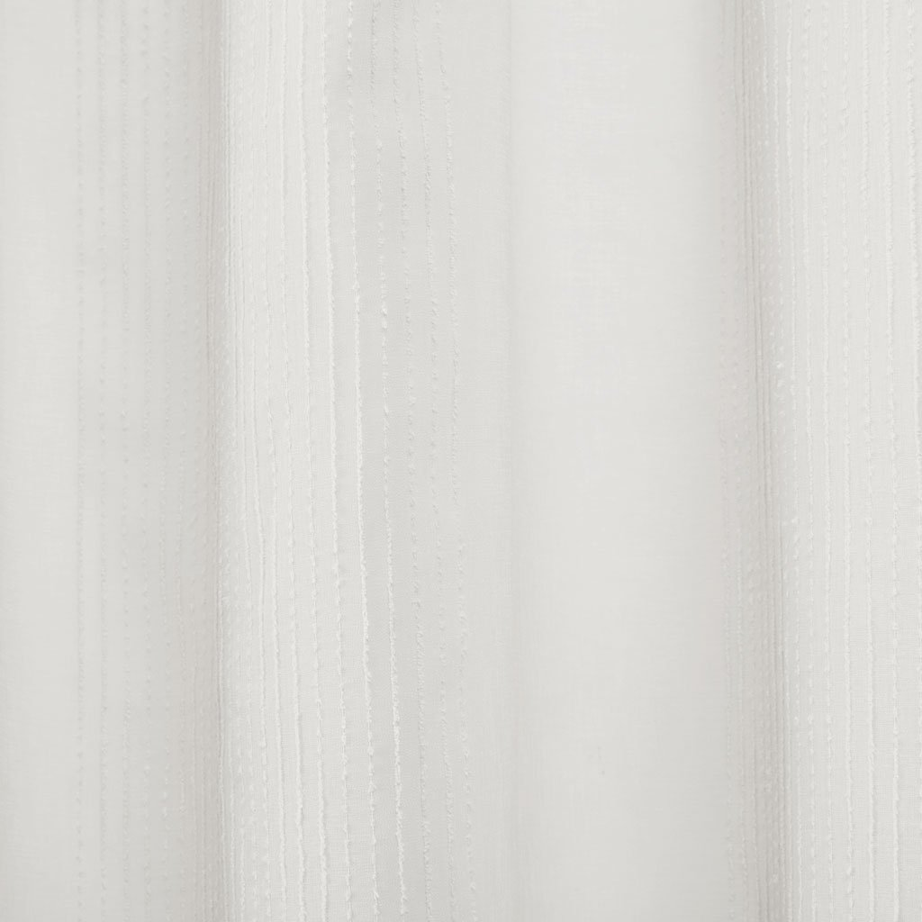 Madison Park Anna Sheer Stripe Textured Bathroom Shower Curtain 72X72 Inches White