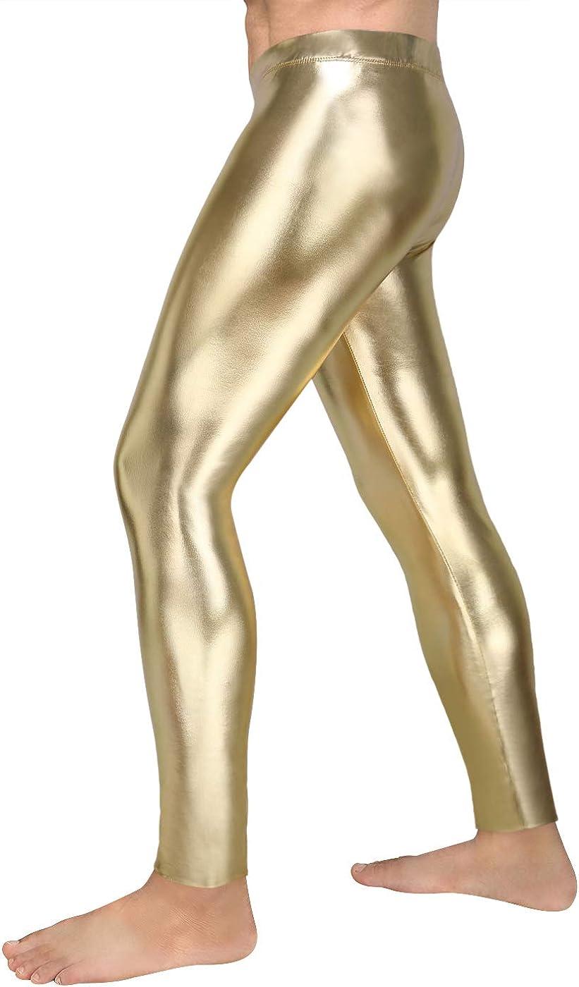 Festival Disco HDE Mens Holographic Meggings; Leggings for Halloween Costume