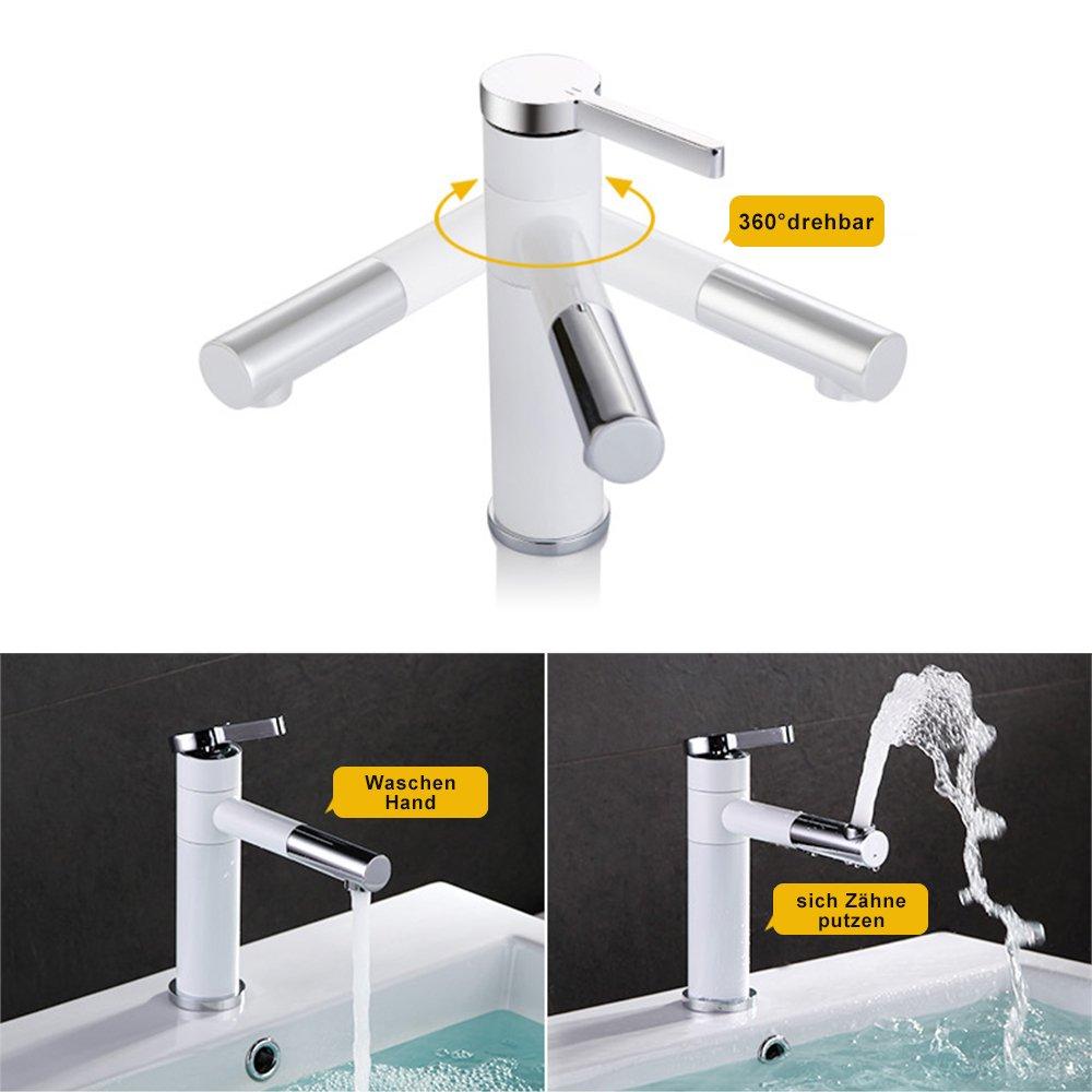Homelody Wasserhahn bad mit Lack beschichtet Waschtischarmatur ...