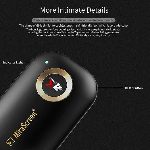 Dongle inalámbrico con Pantalla WiFi, 4K HD Adaptador inalámbrico ...