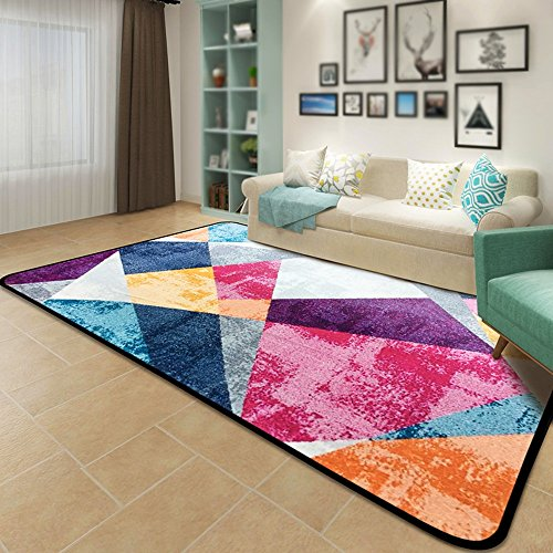 Amazon Color Geometric Abstract Carpet Living Room Coffee Custom Carpet Colors For Living Room