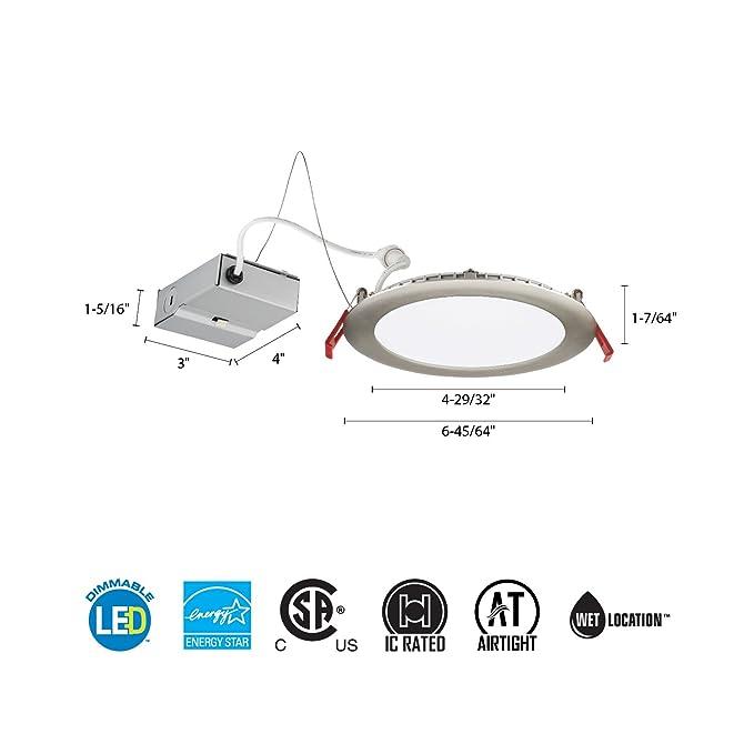 Amazon.com: Lithonia Lighting WF6 LED 40K BN M6 13.6W Ultra Thin 6