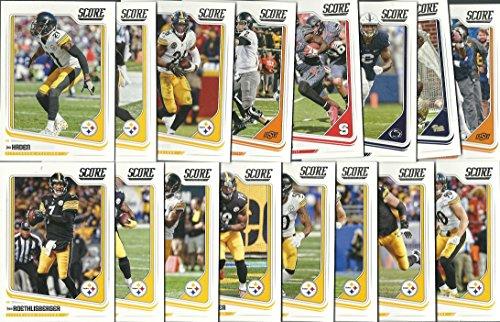 2018 Panini Score Football Pittsburg Steelers Team Set 16 Cards W/Drafted Rookies