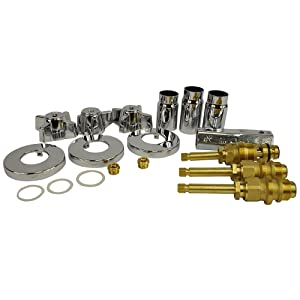 Danco, Inc. 39621 Remodeling Kit, for Use with Sterling Tub and Showers Faucets, Steel, Chrome Plated