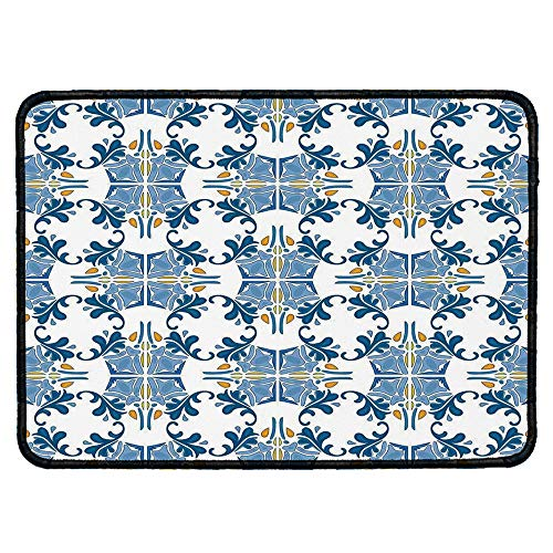 Traditional House Decor Custom Mouse Pad,Roman Tile Mosaic Design with Famous Artful Eastern Inspired Image for Electronic Games Office,9.84''Wx11.81''Lx0.12''H - Roman Bath Mosaics