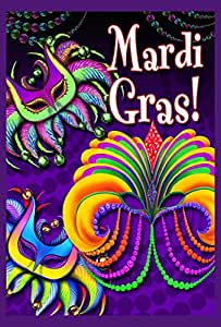 Toland Home Garden Happy Mardi Gras Garden Flag