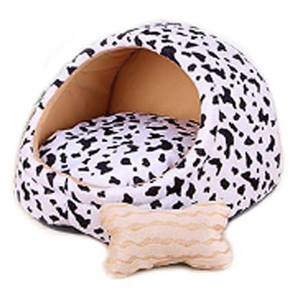 Pequeño y Mediano tamaño para Mascotas Pet Nest Extraíble y Lavable Patrón Blanco Estera de Verano
