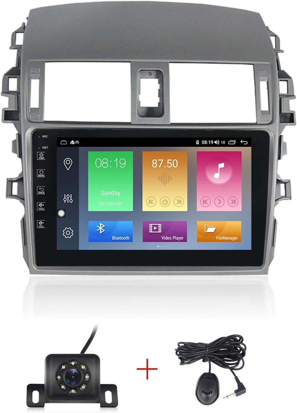 Car Multimedia 9/'/' Android 8.1 For 2006 2007 2008 2009 2010-2012 Toyota Corolla