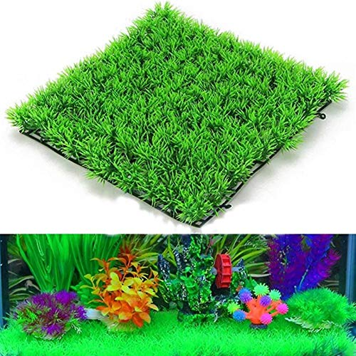 WRG_BOS New Fish Tank Square Artificial Grass Lawn Aquarium Fake Grass Mat for Home Decoration (Fake Artificial Aquarium Fish Tank By Bos)