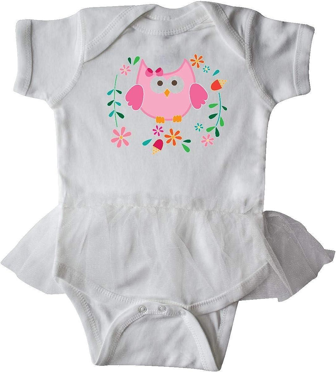 inktastic Owl Gifts for Girls Infant Tutu Bodysuit