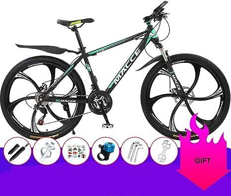 Dsrgwe Bicicleta de Montaña, Bicicleta de montaña, Marco de Acero ...