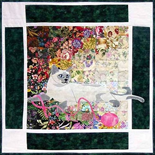 Watercolor Quilt Kit - Rachel's Cat Garden - Block 7 - Tonkinese Cat Kitty - KIT ONLY! ()
