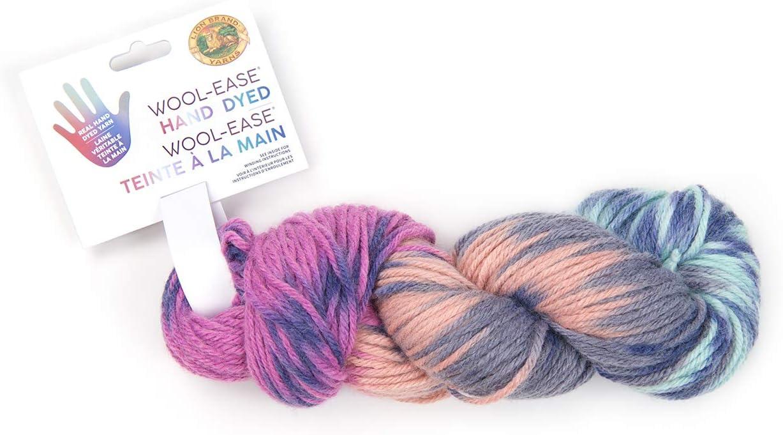 Blue Raspberry Lion Brand Yarn Wool-Ease Hand Dyed Yarn