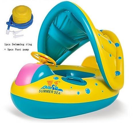 JCT 8-36 Meses BebéFflotador de Seguridad Anillo de Natación Bebé Niños Hinchable Natación Agua
