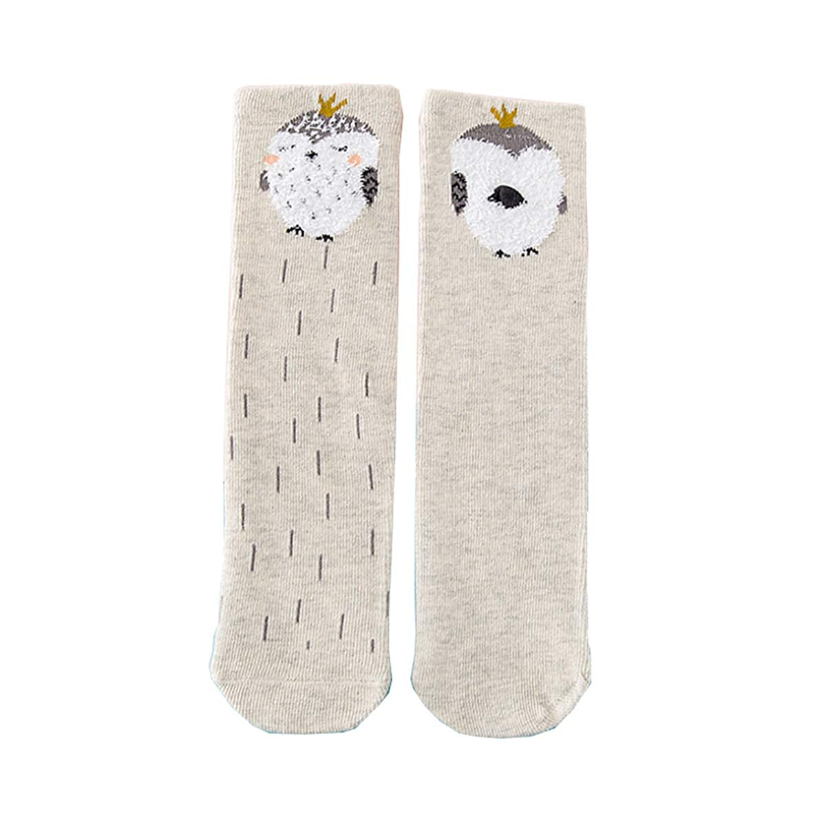 Little Girls Knee High Cotton Socks Cute Cartoon Animal Dress Socks Stockings