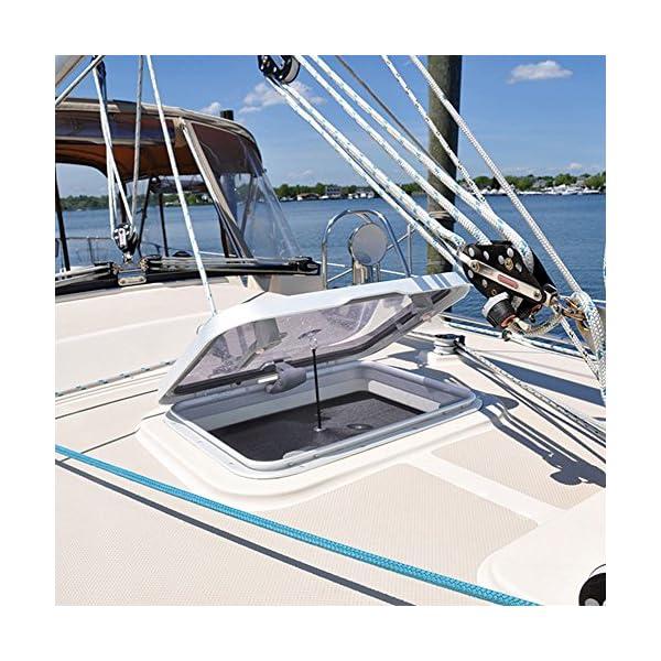 Waterline Design MOSKITONETZ Fliegengitter Insektenschutz für Boote – Innenmontage mit Magnet oder Saugnapf…