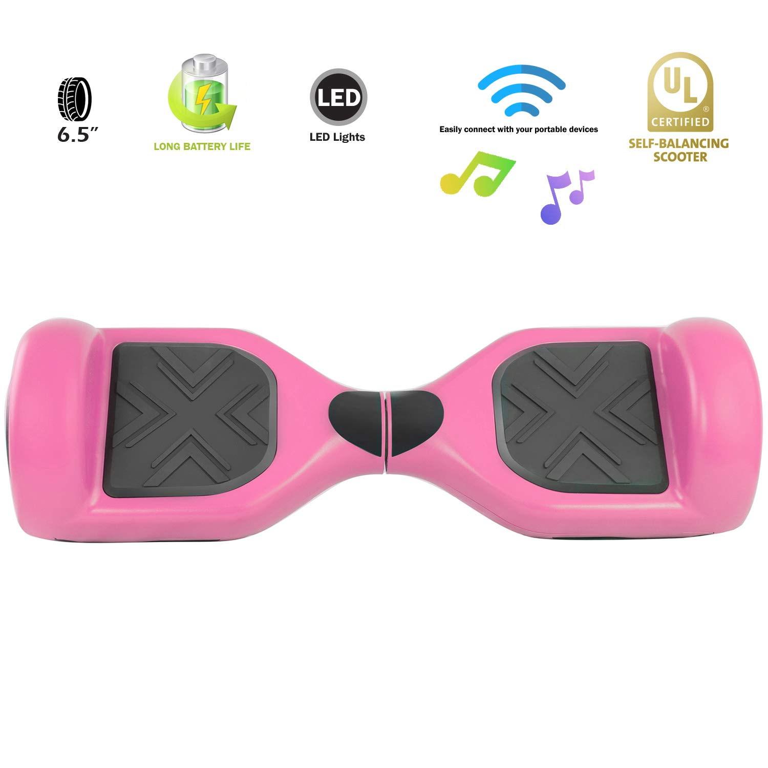 XPRIT Easter Sale Hoverboard w/Bluetooth Speaker (Pink) by XPRIT (Image #4)