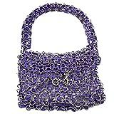 NOVICA Metallic Soda Pop-top Bag, 'Mini-Shimmery Purple'