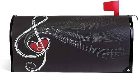 HEOH Notes de Musique et Couverture de boîte aux Lettres cœur 20.7 ...