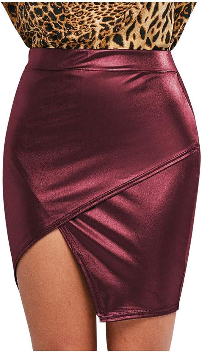Carol - Minifalda para mujer, estilo mojado, sexy, minifalda ...