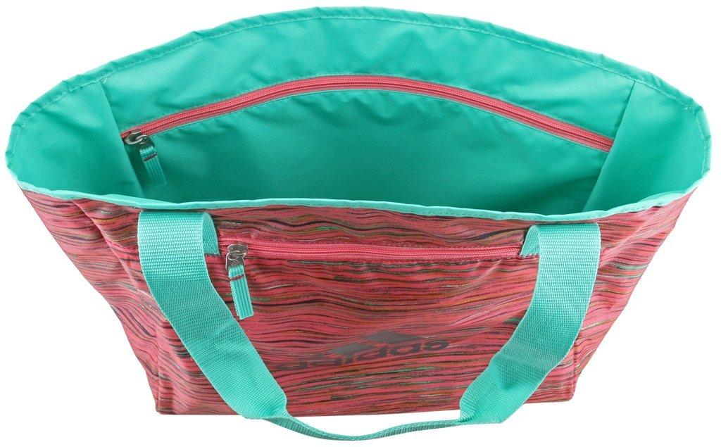 adidas Studio II Tote Bag One Size Onix Jersey  Black  Energy Aqua ... c6b31272a092f