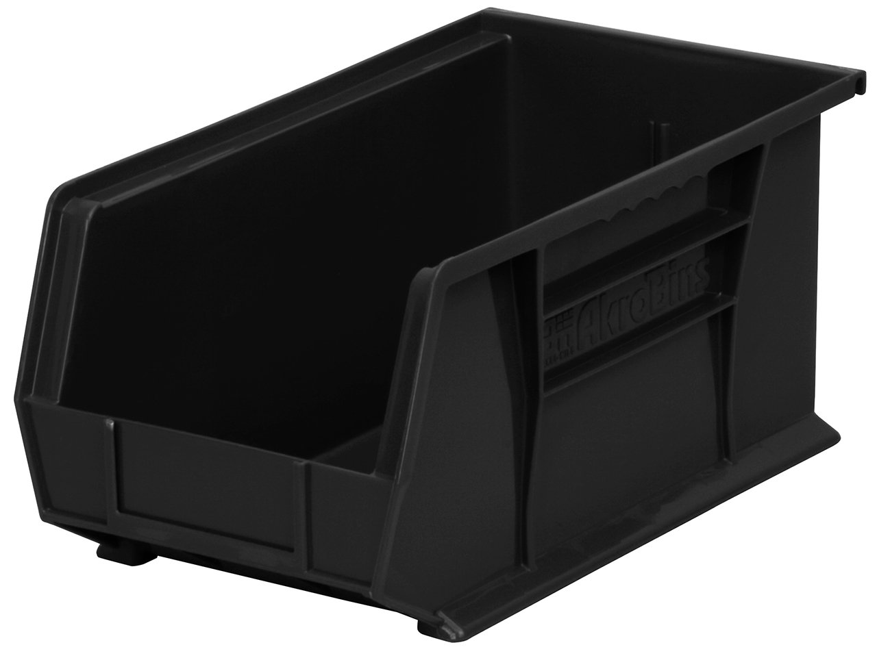 Akro-Mils 30240 Plastic Storage Stacking Hanging Akro Bin, 15-Inch by 8-Inch by 7-Inch, Black, Case of 12