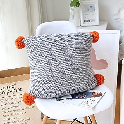 Amazon.com: INS almohada almohada tejer lindo bola de cojín ...
