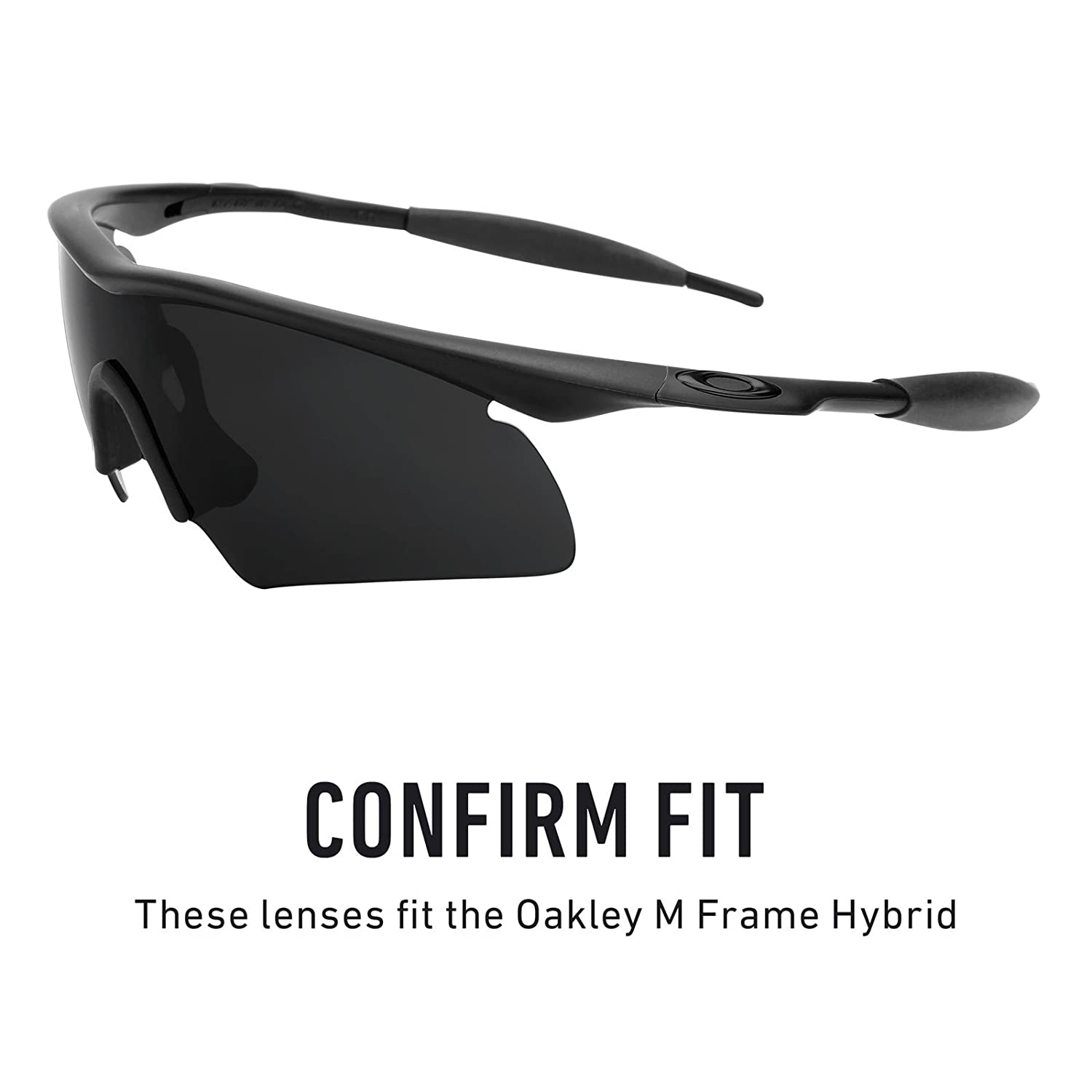 fea4ff1ace4 Amazon.com  Revant Polarized Replacement Lens for Oakley M Frame Hybrid  Black Chrome MirrorShield  Sports   Outdoors