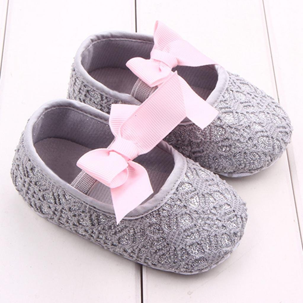 Sunward 2018 Baby Girls Princess Shoes,Mary Jane Shoes Toddler Leather Princess Bowknot Flat Shoes