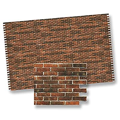 Dollhouse Antique Brick Wall Paper Material by World Model Miniatures: Toys & Games