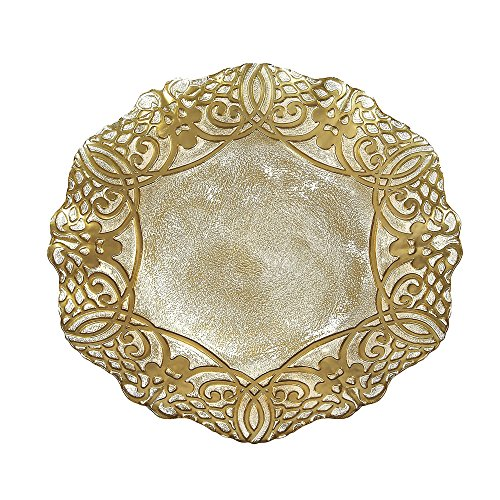 Scallop Charger Plate - Red Pomegranate 27738-1 Geneve 13