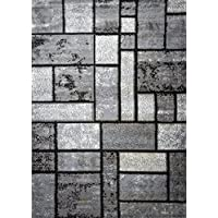 Msrugs Frize Collection Contemporary Area Rugs for Living Room 5x7 and 8x10 Clearance (5x7, Gray-7513)