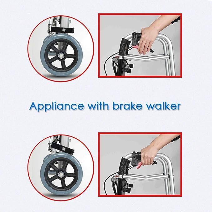 YUNSHINE Andadores con ruedas para personas de la tercera edad con ...