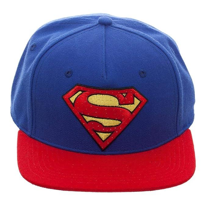 Amazon.com  DC Comics Superman Snapback Hat with Illuminating Logo ... 51ef561a87b