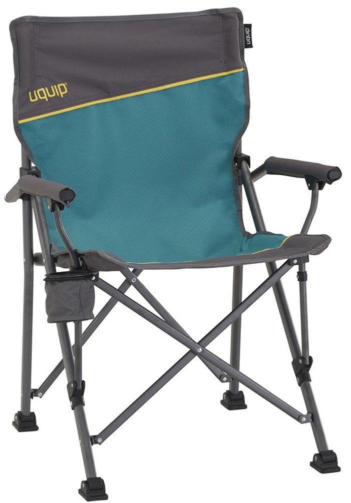 Uquip Roxy – Sedia da campeggio con portabottiglie - Struttura stabile fino a 120 kg