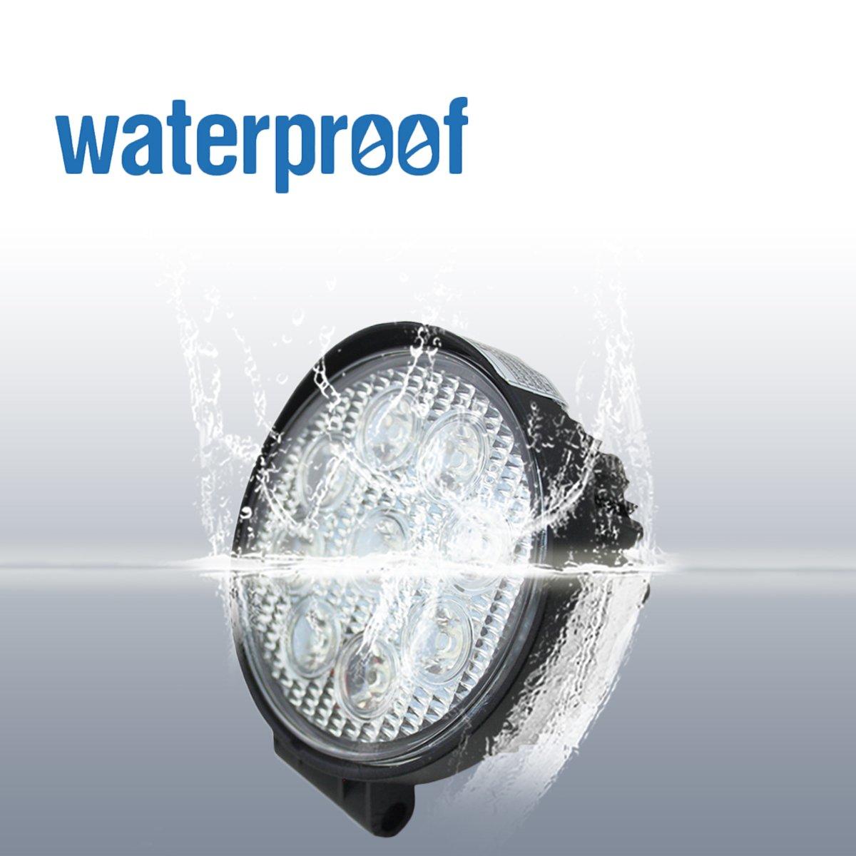 VINGO/® 27W LED Faros Proyector Luz Lampara de coche Luz Moto Para Tractor Camiones Coche Impermeable 4x 27w clase de energ/ía A ++