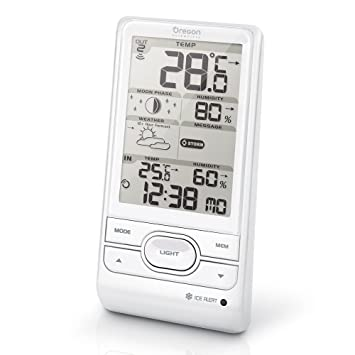 e90fb5c36 Oregon Scientific BAR208HG Wireless Weather Station with Humidity and Weather  Alert - White