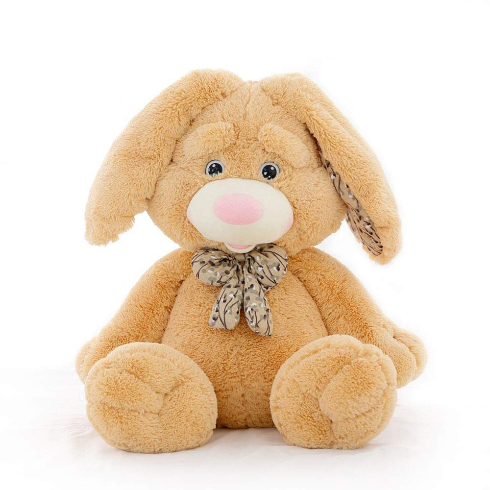 Beige 60cm Bunny toy, Easter cute rabbit plush doll, baby accompanying sleeping doll,Brown,60cm