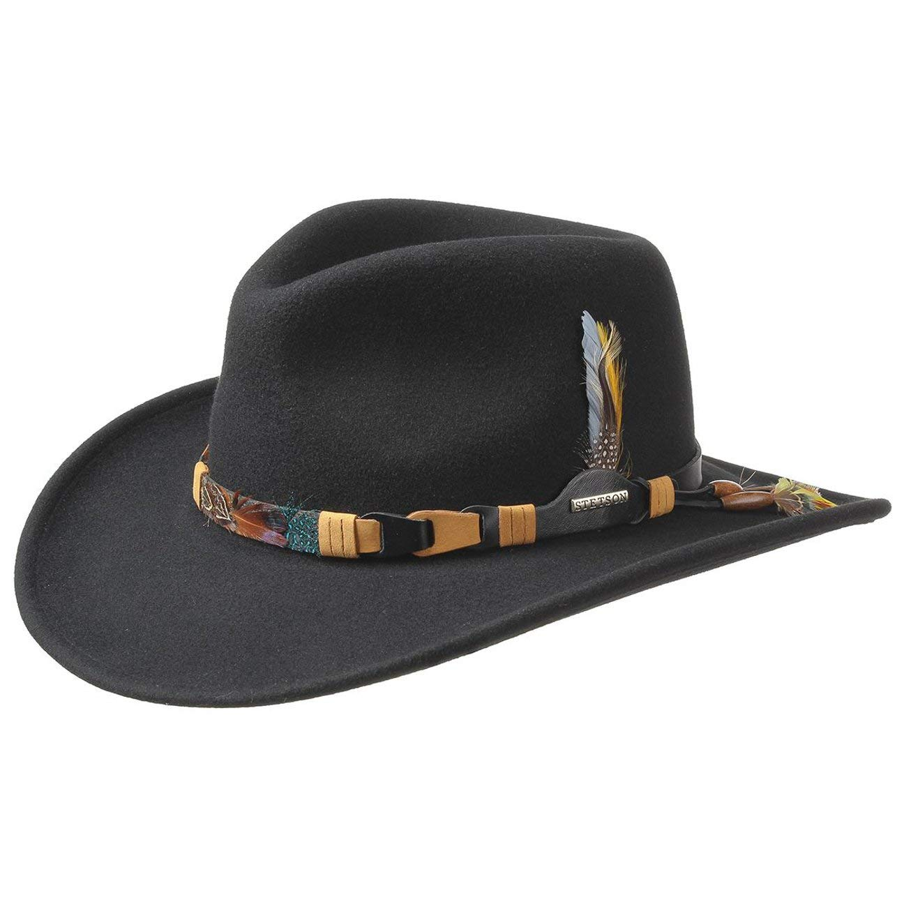 Kingsley Western Hat Stetson Indian feathers feather band