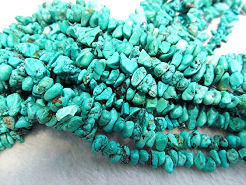 (6-8mm Natural Turquoise Gemstone Freeform Chips Nuggets Turquoise Beads necklace chunk strand)
