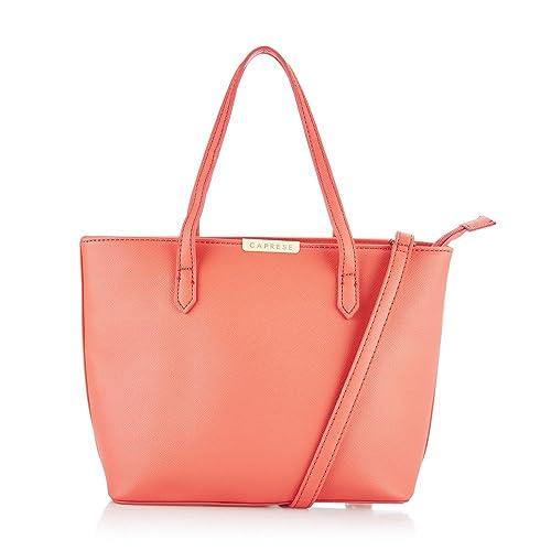 6bfb465c8 Caprese Women s Tote Bag (Bright Peach)  Amazon.in  Shoes   Handbags