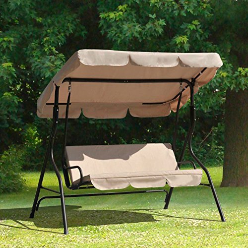 Patio Swing Canopy Glider Hammock Chair Patio Backyard Porch Furniture by FDW