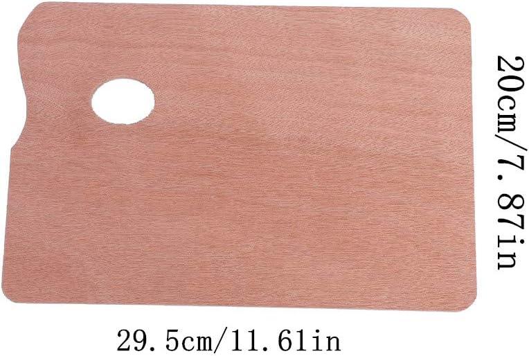WDJ Malpalette 4 St/üCk Holz Mischpaletten Quadratische H/öLzerne Ovale Griffloch Malen Palette Rechteckige Palette F/üR Malen /öLfarben Kunst Aquarell Professionelle Und Amateurprojekte