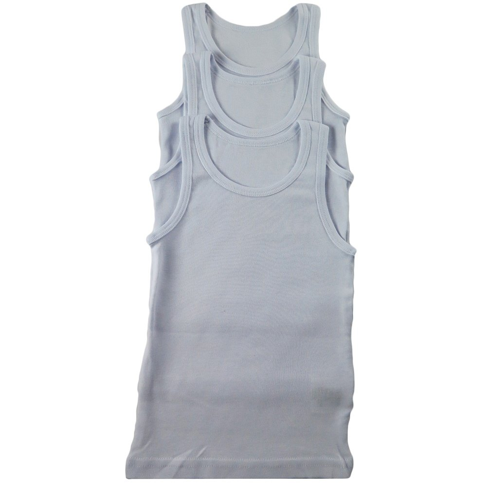 BOYS EXTRA FINE 100% COTTON FOR NATURAL TANK TAG LESS UNDERSHIRT WITH SUPERIOR COMFORT (11-12)