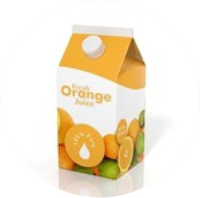 my-puzzle-design alfombrilla de ratón caja de cartón de jugo de naranja 3D aislada en el fondo blanco: Amazon.es: Electrónica